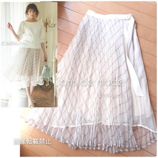 PROPORTION BODY DRESSING - 新品未使用トランテアンソンドゥモード プリントプリーツ切替スカート
