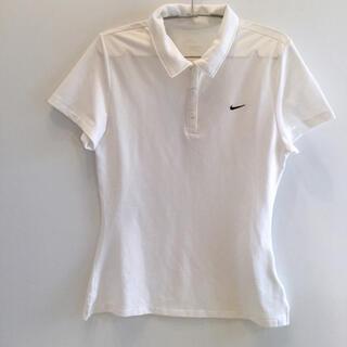 NIKE - Nike ナイキ 半袖 白 ポロシャツ ドライフィット Lサイズ