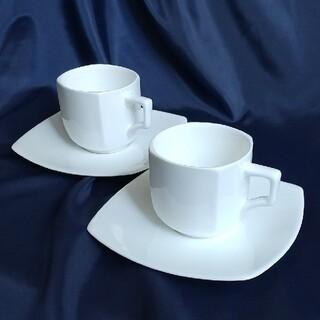 リチャードジノリ(Richard Ginori)のリチャード・ジノリ  ヴェラホワイト コーヒーカップ&ソーサー 2客(食器)
