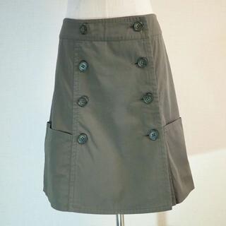 ジェーンマープル(JaneMarple)のJane Marple Dans Le Salon カーキ台形スカート(ひざ丈スカート)