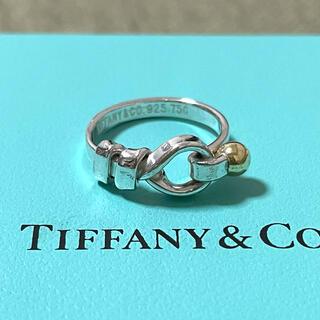 Tiffany & Co. - ティファニー フラットワイヤー リング フックアンドアイ 925 750 コンビ