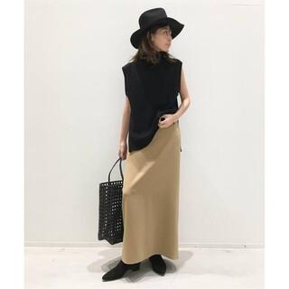 アパルトモンドゥーズィエムクラス(L'Appartement DEUXIEME CLASSE)のemi☆様専用 Back Slit Long スカート キャメル36(ロングスカート)