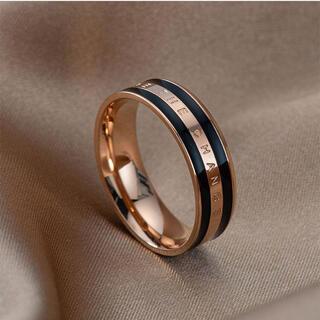 チェンジリング ステンレスリング ステンレス指輪 ピンキーリング ピンクブラック(リング(指輪))
