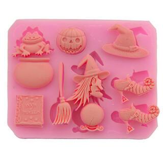 ハロウィン シリコン モールド Halloween 樹脂粘土(各種パーツ)
