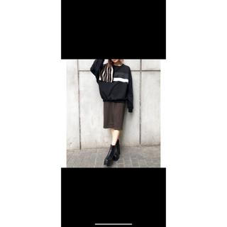 エモダ(EMODA)の★新品☆EMODA ウエストベルトマークミディスカート(ひざ丈スカート)