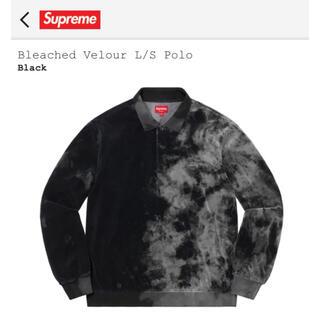 """Supreme - Supreme Bleached Velour L/S Polo """"Black"""""""