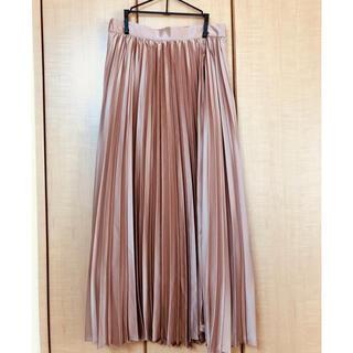 オペークドットクリップ(OPAQUE.CLIP)のサテンプリーツスカート(ロングスカート)