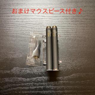 プルームテック(PloomTECH)のP1674番プルームテック 純正 バッテリー2本おまけマウスピース付きブラック(タバコグッズ)