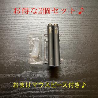 プルームテック(PloomTECH)のP1675番プルームテック 純正 バッテリー2本おまけマウスピース付きブラック(タバコグッズ)