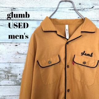 glamb - glumb グラム メンズ 長袖ボーリングシャツ バックプリント