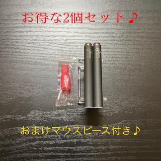 プルームテック(PloomTECH)のP1676番プルームテック 純正 バッテリー2本おまけマウスピース付きブラック(タバコグッズ)