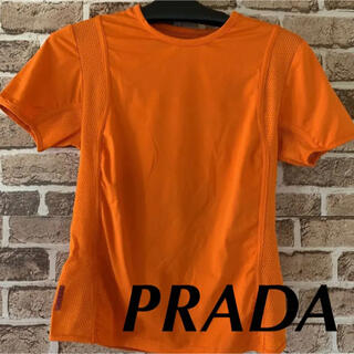 プラダ(PRADA)のPRADA プラダ  Tシャツ カットソー オレンジ 42(Tシャツ(半袖/袖なし))