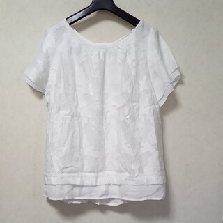 グローブ(grove)の白カットソー サイズL(カットソー(半袖/袖なし))