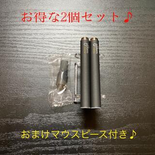 プルームテック(PloomTECH)のP1677番プルームテック 純正 バッテリー2本おまけマウスピース付きブラック(タバコグッズ)