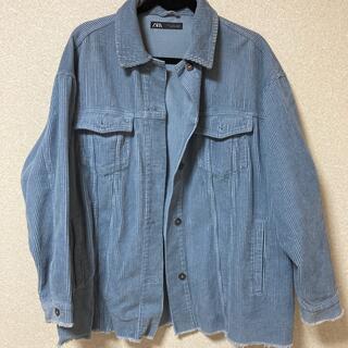 ZARA - ZARA コーデュロイジャケット くすみカラー ブルー 青