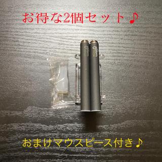 プルームテック(PloomTECH)のP1678番プルームテック 純正 バッテリー2本おまけマウスピース付きブラック(タバコグッズ)