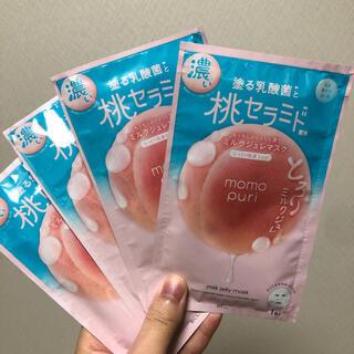 momopuri 桃セラミド ミルクジュレマスク 4枚セット(パック/フェイスマスク)