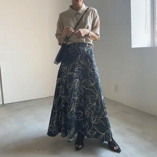 Ameri VINTAGE - AmeriVINTAGE 新作完売品 デニムライクフラワースカート