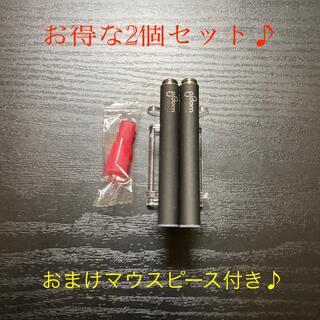 プルームテック(PloomTECH)のP1679番プルームテック 純正 バッテリー2本おまけマウスピース付きブラック(タバコグッズ)