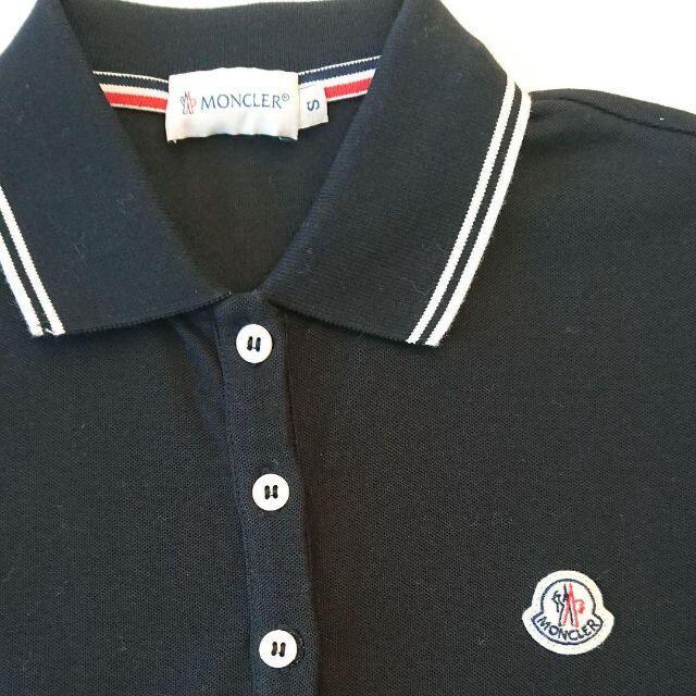 MONCLER(モンクレール)のradys様専用★新品★MONCLER★ポロシャツ★黒 レディースのトップス(ポロシャツ)の商品写真