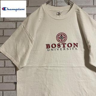 Champion - 90s 古着 チャンピオン Tシャツ 刺繍ロゴ ビッグシルエット ゆるだぼ