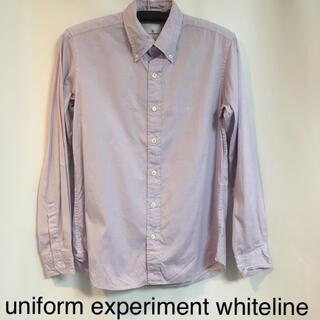ユニフォームエクスペリメント(uniform experiment)の★美品★ uniform experiment whiteline 長袖シャツM(シャツ)