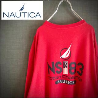 ノーティカ(NAUTICA)のNAUTICA ノーティカ US古着 バックプリントT クルーネックロンT(Tシャツ/カットソー(七分/長袖))