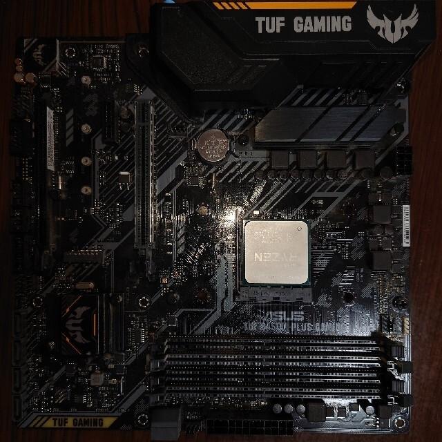 ASUS(エイスース)のTUF B450-PLUS GAMING+Ryzen 5 3600X スマホ/家電/カメラのPC/タブレット(PCパーツ)の商品写真
