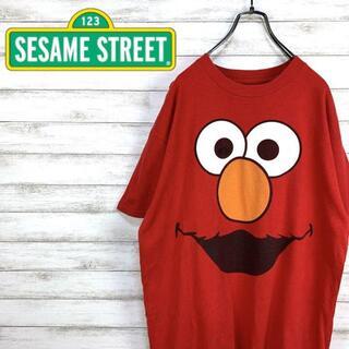 セサミストリート(SESAME STREET)の希少 90s セサミストリート Tシャツ プリント エルモ 美品(Tシャツ/カットソー(半袖/袖なし))