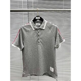トムブラウン(THOM BROWNE)のTHOM BROWNE  クラシックなショルダービーズ地の綿ポロ半袖(Tシャツ/カットソー(半袖/袖なし))