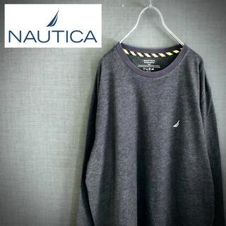 ノーティカ(NAUTICA)のNAUTICA ノーティカ ワンポイントロゴ刺繍 クルーネック ロンT 杢濃紺(Tシャツ/カットソー(七分/長袖))