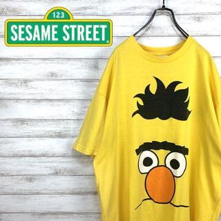 セサミストリート(SESAME STREET)の希少 90s セサミストリート Tシャツ プリント バート USA製(Tシャツ/カットソー(半袖/袖なし))