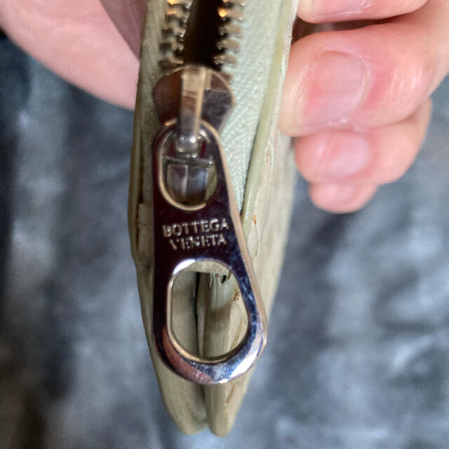 Bottega Veneta(ボッテガヴェネタ)の正規品 美品 ボッテガヴェネタ コインケース ホワイトレア  財布 サイフ 白  レディースのファッション小物(コインケース)の商品写真