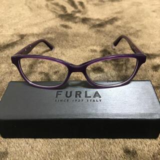 Furla - フルラ FURLA メガネフレーム  ケース付き パープル系  新品