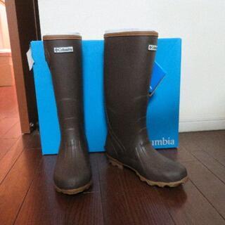 コロンビア(Columbia)の新品箱入りColumbia コロンビア* レインブーツ 長靴ブラウン23㎝(レインブーツ/長靴)