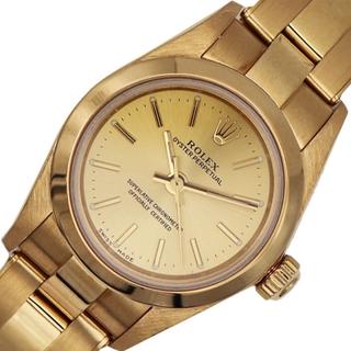 ロレックス(ROLEX)のロレックス ROLEX オイスターパーペチュアル 金無垢 腕時計 レデ【中古】(腕時計)