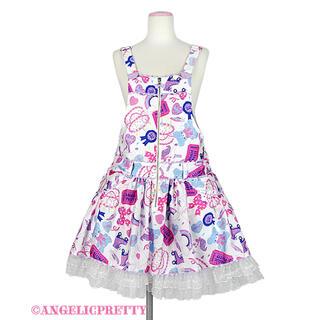 Angelic Pretty - Angelic Pretty Girly Stickerサロペット&バレッタ