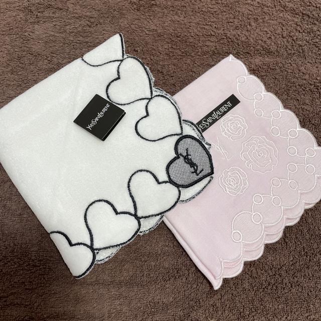 Saint Laurent(サンローラン)の【新品‼︎タグ,シール付】イヴサンローラン タオルハンカチ タオル ハンカチ レディースのファッション小物(ハンカチ)の商品写真
