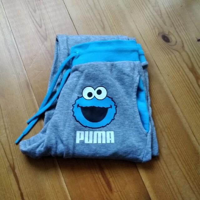 PUMA(プーマ)のpuma セサミストリート コラボ 140サイズ   パンツ キッズ/ベビー/マタニティのキッズ服男の子用(90cm~)(パンツ/スパッツ)の商品写真