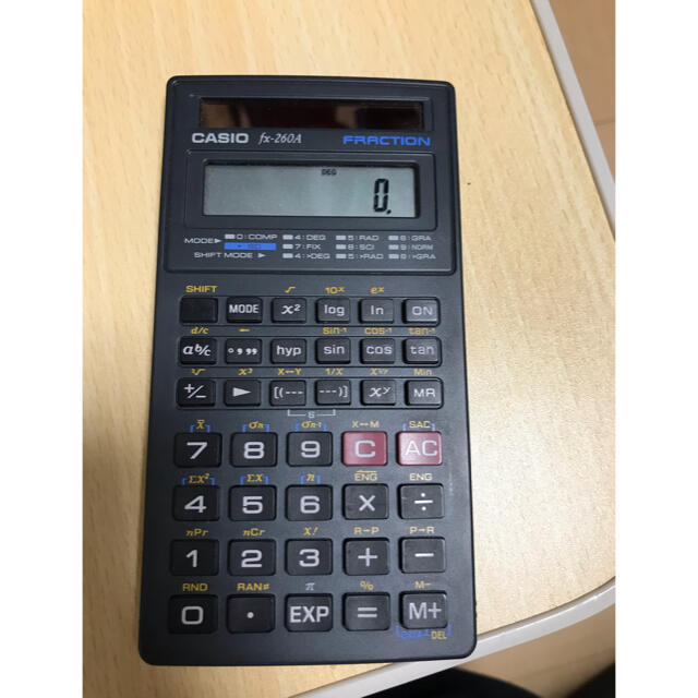 CASIO(カシオ)のCASIO 関数電卓 fx-260A カシオ インテリア/住まい/日用品のオフィス用品(オフィス用品一般)の商品写真