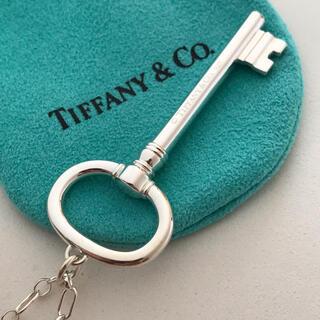 Tiffany & Co. - Tiffany ラージオーバルキー ロング チェーンネックレス 美品