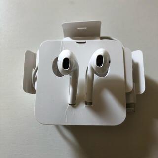 アップル(Apple)の新品 iPhone 純正イヤホン アップル 変換アダプタ セット(ヘッドフォン/イヤフォン)