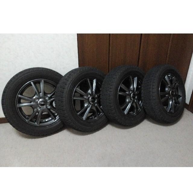Goodyear(グッドイヤー)のGOOD YEAR ICE NAVI ZEAスタッドレス155 /65R13 自動車/バイクの自動車(タイヤ・ホイールセット)の商品写真