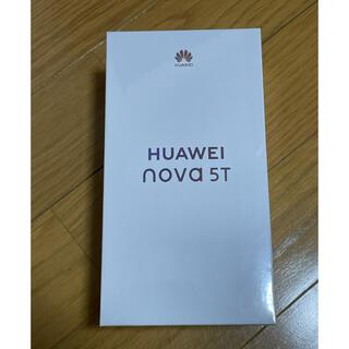 ファーウェイ(HUAWEI)のHUAWEI nova 5T  ブラック(スマートフォン本体)