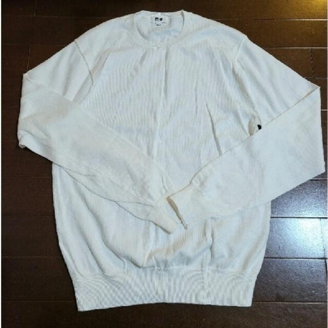 UNIQLO(ユニクロ)のユニクロ メンズスーピマコットンクルーネック セーター S メンズのトップス(ニット/セーター)の商品写真