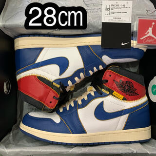 ナイキ(NIKE)の28㎝ NIKE UNION AIR JORDAN 1 RETRO HI NRG(スニーカー)