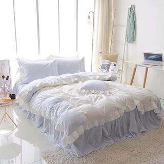 さわやかなめらか肌触り寝具カバーセット掛け布団カバーベッドスカート枕カバーセット