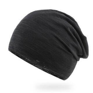 ワッチキャップ ニット帽 男女兼用 医療用帽子 ブラック