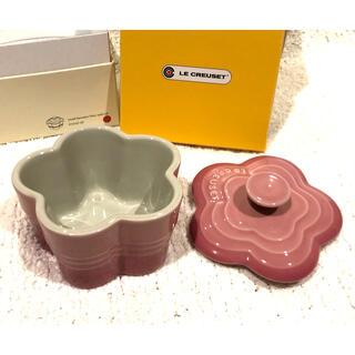 LE CREUSET - 新品 ルクルーゼ フルール 蓋つきラムカン ピンク