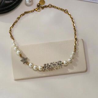 Dior - 一点 箱保存袋付き クリスチャンディオール  パール チョーカー ネックレス